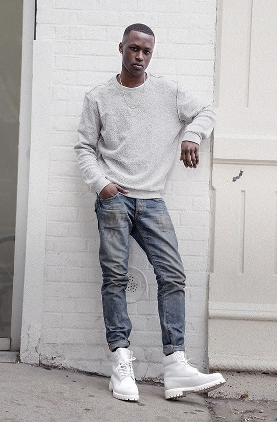 Men\u0027s Style How to Pull Off White Boots , White Boots for Men
